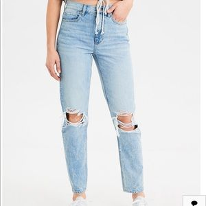 """American Eagle  """"mom jeans"""" in color """"uber cool"""""""